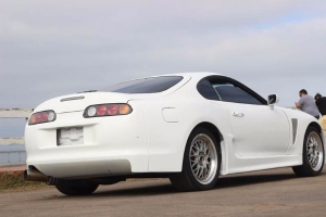clean white supra for cheap price